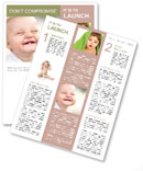 Happy toddler smiling Newsletter Template