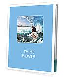 Surfer on the crest of a wave Presentation Folder