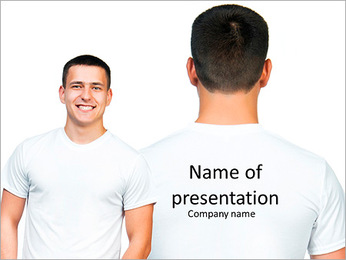 View of men in front and behind PowerPoint Template