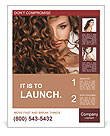 Face of beautiful girl with curly hair Poster Template