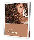 Face of beautiful girl with curly hair Presentation Folder