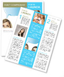 Thoughts woman with a man Newsletter Template