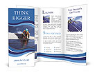 Workers install a solar panel Brochure Templates