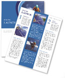 Workers install a solar panel Newsletter Template