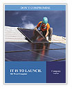 Workers install a solar panel Word Templates