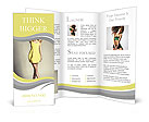 Beautiful model posing in a yellow dress Brochure Template