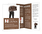 The man with the bag behind Brochure Template