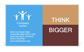Kids posing for the camera Business Card Template