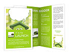Funny cartoon shows ecology Brochure Templates
