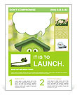 Funny cartoon shows ecology Flyer Template