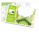 Funny cartoon shows ecology Postcard Template
