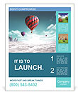 Balloons extraordinary journey Poster Template