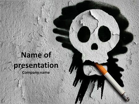 Smoking is a quick death powerpoint template backgrounds id smoking is a quick death powerpoint template toneelgroepblik Choice Image