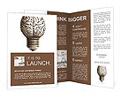 The human brain in the form of light bulbs Brochure Templates