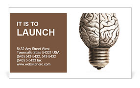 The human brain in the form of light bulbs Business Card Templates