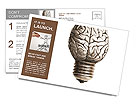 The human brain in the form of light bulbs Postcard Template