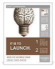 The human brain in the form of light bulbs Poster Templates