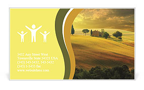 Sunset in Tuscany Business Card Template