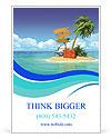 Ocean island voucher bags Ad Template