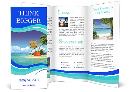 ocean island voucher bags brochure template design id. Black Bedroom Furniture Sets. Home Design Ideas