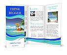 Ocean island voucher bags Brochure Templates