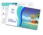 Ocean island voucher bags Postcard Template
