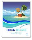 Ocean island voucher bags Poster Template