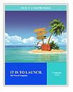 Ocean island voucher bags Word Templates
