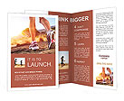 Autumn girl jogging Brochure Template