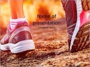 Autumn girl jogging PowerPoint Template