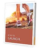 Autumn girl jogging Presentation Folder