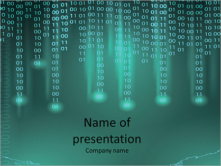 the binary code powerpoint template & backgrounds id 0000010568, Modern powerpoint