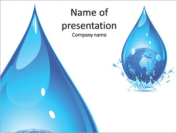 A huge drop of water PowerPoint Template