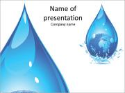 A huge drop of water PowerPoint Templates