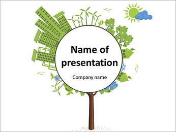 Ecology in the city PowerPoint Template