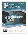 Caption social network concept Flyer Template