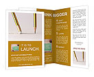 Pencil line and eraser Brochure Templates
