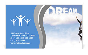 Caption dream in the clouds Business Card Template