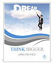 Caption dream in the clouds Poster Template