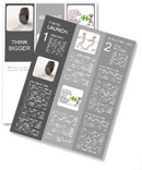 Traces of car tires in the form of letters Newsletter Templates