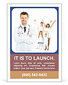 Smiling doctor against patient Ad Template