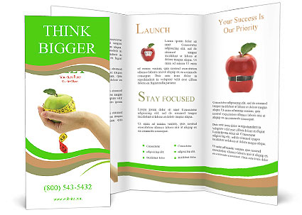 mac brochure template - dietary food apple brochure template design id