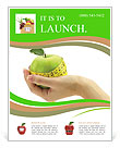 Dietary food apple Flyer Templates