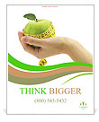 Dietary food apple Poster Template