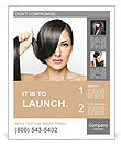 Beautiful girl with short hair Poster Template