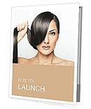 Beautiful girl with short hair Presentation Folder