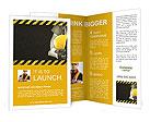 Image worker in overalls Brochure Templates