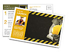 Image worker in overalls Postcard Template