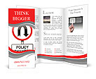 Changes in the rules of road sign Brochure Templates
