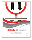 Changes in the rules of road sign Poster Template